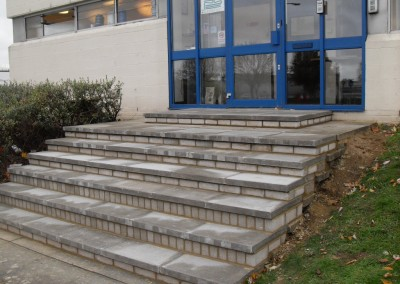 Masonry Repair Work On Steps