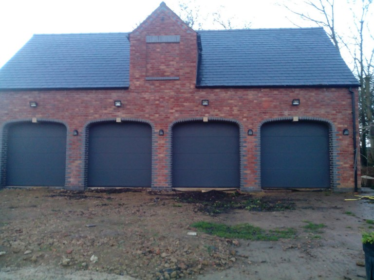 New Build Quadruple Garage In Wilby