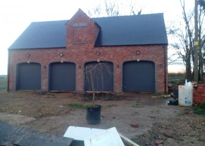 New Build Quadruple Garage In Wilby, Northamptonshire 3