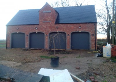 New Build Quadruple Garage In Wilby, Northamptonshire 4