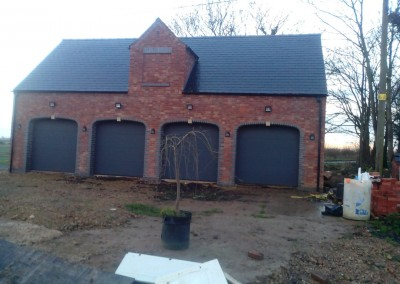 New Build Quadruple Garage In Wilby, Northamptonshire 5