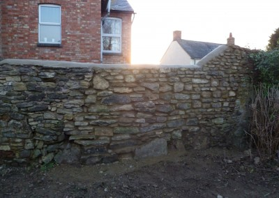 Stone Wall Rebuilt After Falling Down In Great Houghton, Northampton 1