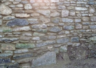 Stone Wall Rebuilt After Falling Down In Great Houghton, Northampton 2