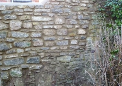 Stone Wall Rebuilt After Falling Down In Great Houghton, Northampton 3