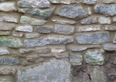Stone Wall Rebuilt After Falling Down In Great Houghton, Northampton 4