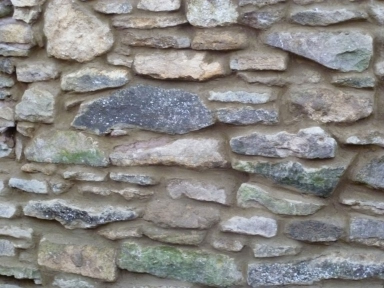 Traditional Stone Wall Rebuilt After Falling Down In Great Houghton