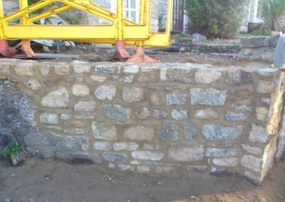 Random Stone Garden Wall Repair In Syresham Northamptonshire 1