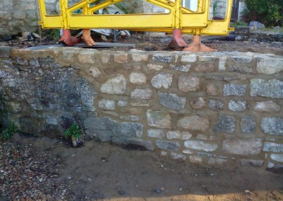 Random Stone Garden Wall Repair In Syresham Northamptonshire 2