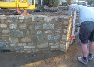 Random Stone Garden Wall Repair In Syresham Northamptonshire 3