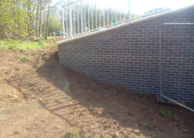 Subway Brickwork At Northampton's Round Spinney Roundabout 4