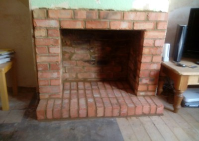 Brick Fireplace Built In Northampton 1