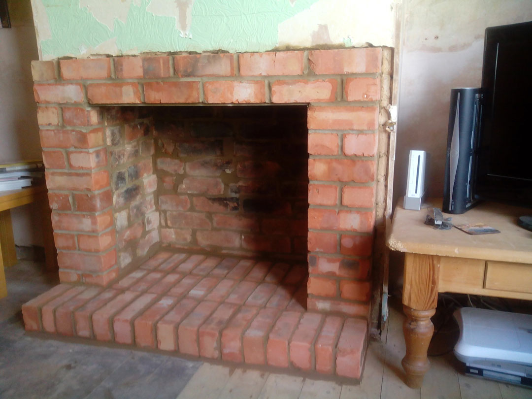 Brick Fireplace Built In Northampton Northants Brickwork