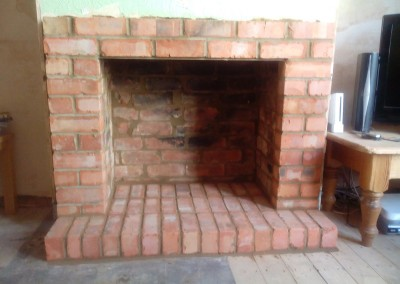 Brick Fireplace Built In Northampton 3