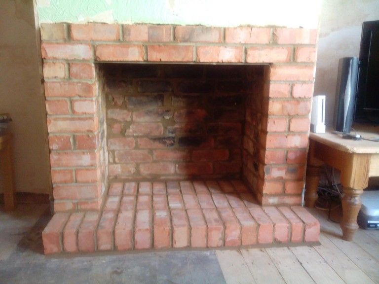 Brick Fireplace Built In Northampton