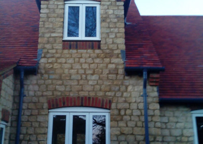 New Build House Built with Traditional Random Stone in Northampton 11