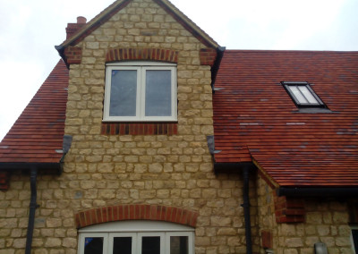 New Build House Built with Traditional Random Stone in Northampton 5