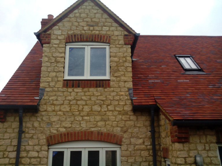 New Build House Built with Random Stone in Northampton