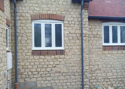 New Build House Built with Traditional Random Stone in Northampton 6