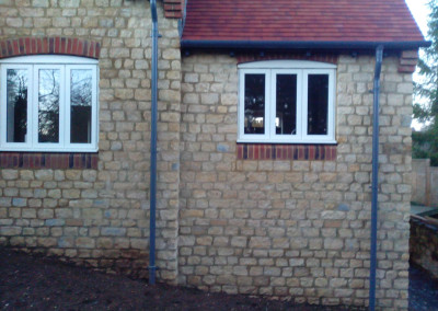New Build House Built with Traditional Random Stone in Northampton 7