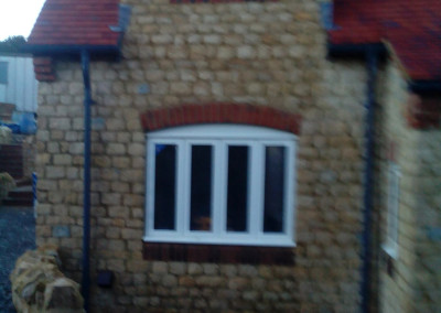 New Build House Built with Traditional Random Stone in Northampton 8
