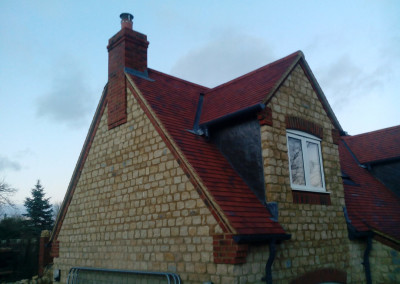 New Build House Built with Traditional Random Stone in Northampton 9